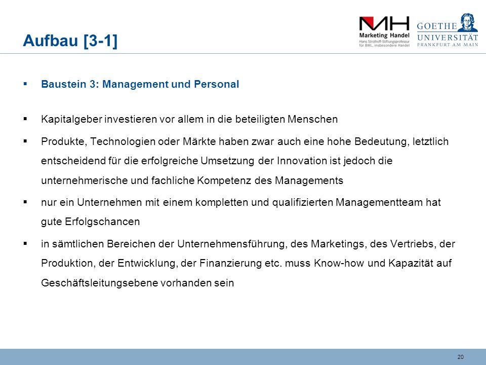 Aufbau [3-1] Baustein 3: Management und Personal